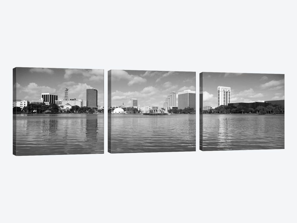Orlando Panoramic Skyline Cityscape (Black & White) by Unknown Artist 3-piece Canvas Artwork