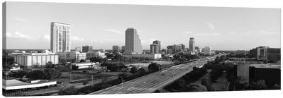 Orlando Panoramic Skyline Cityscape (Black & White) Canvas Print #6122