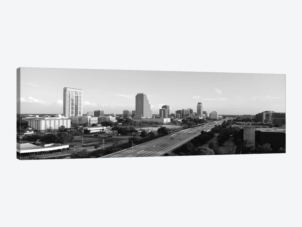 Orlando Panoramic Skyline Cityscape (Black & White) by Unknown Artist 1-piece Art Print