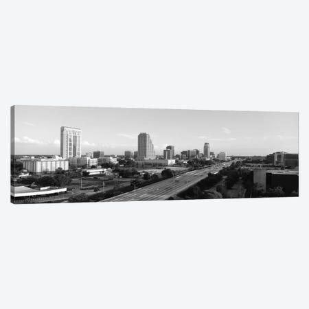 Orlando Panoramic Skyline Cityscape (Black & White) Canvas Print #6122} by Unknown Artist Canvas Art