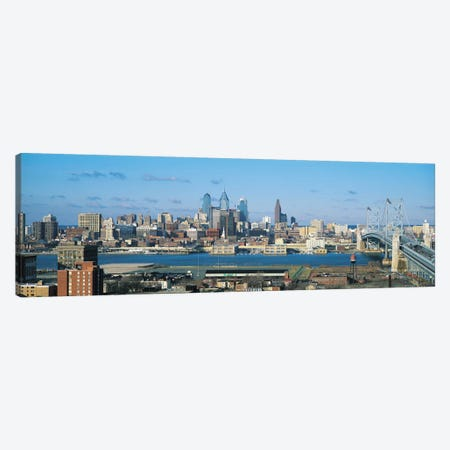 Philadelphia Panoramic Skyline Cityscape Canvas Print #6123} by Unknown Artist Canvas Artwork