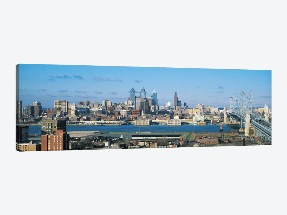 Philadelphia Panoramic Skyline Cityscape by Unknown Artist 1-piece Canvas Wall Art