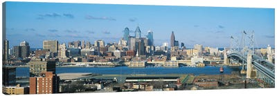 Philadelphia Panoramic Skyline Cityscape Canvas Art Print