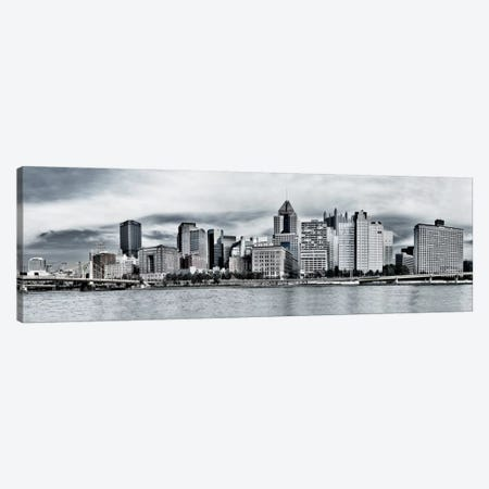 Pittsburgh Panoramic Skyline Cityscape Canvas Print #6125} Canvas Art Print