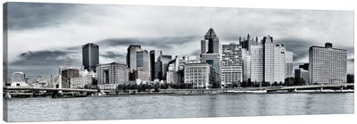 Pittsburgh Panoramic Skyline Cityscape Canvas Art Print