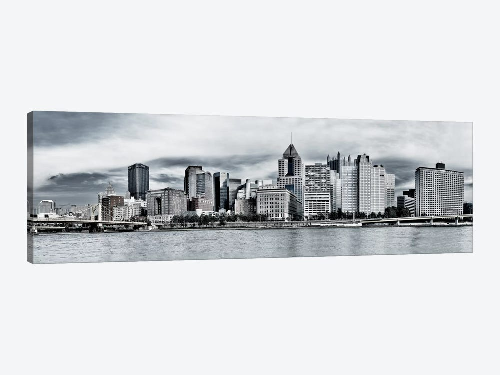 Pittsburgh Panoramic Skyline Cityscape by Unknown Artist 1-piece Canvas Art