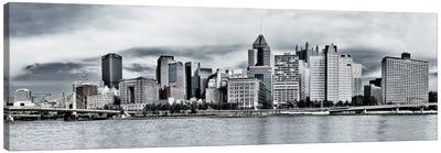 Pittsburgh Panoramic Skyline Cityscape Canvas Art Print
