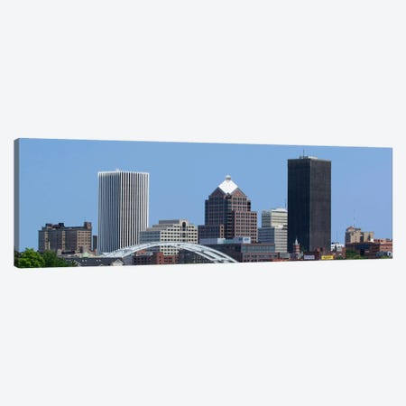 Rochester Panoramic Skyline Cityscape Canvas Print #6126} by Unknown Artist Canvas Art Print