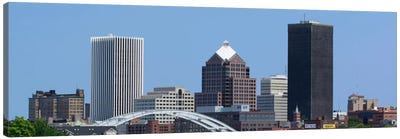 Rochester Panoramic Skyline Cityscape Canvas Print #6126