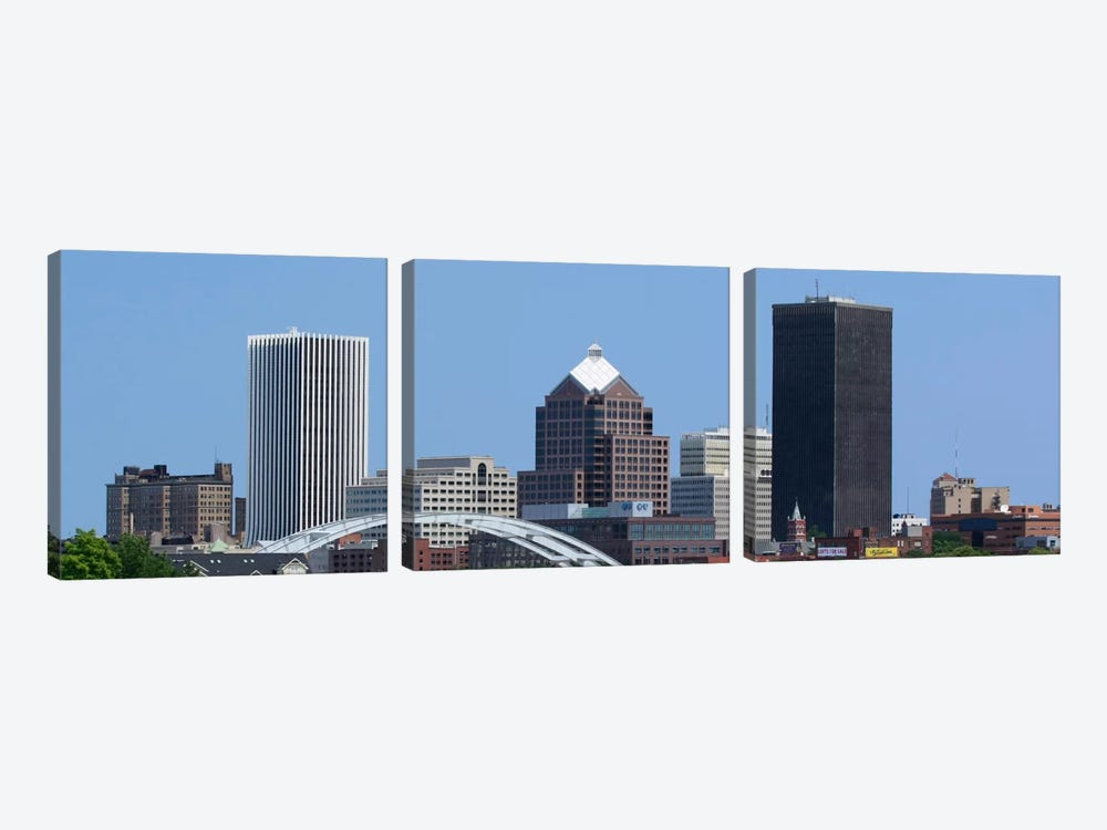 Rochester Panoramic Skyline Cityscape by Unknown Artist 3-piece Canvas Print