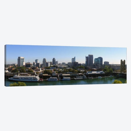 Sacramento Panoramic Skyline Cityscape Canvas Print #6128} by Unknown Artist Canvas Art