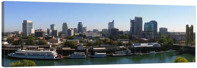 Sacramento Panoramic Skyline Cityscape Canvas Art Print