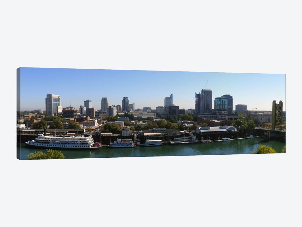 Sacramento Panoramic Skyline Cityscape by Unknown Artist 1-piece Canvas Print