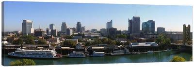 Sacramento Panoramic Skyline Cityscape Canvas Art Print