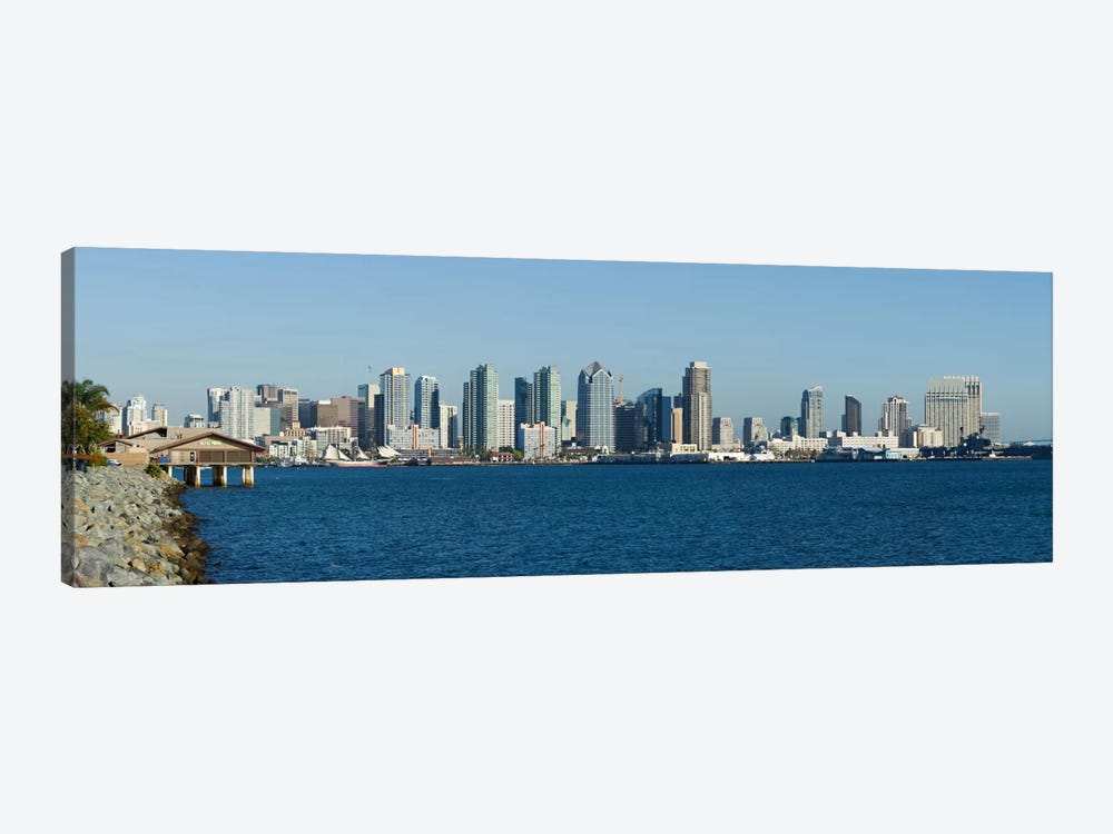 San Diego Panoramic Skyline Cityscape by Unknown Artist 1-piece Canvas Wall Art