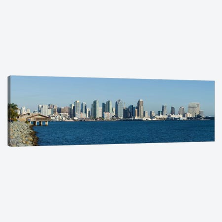 San Diego Panoramic Skyline Cityscape Canvas Print #6130} by Unknown Artist Art Print