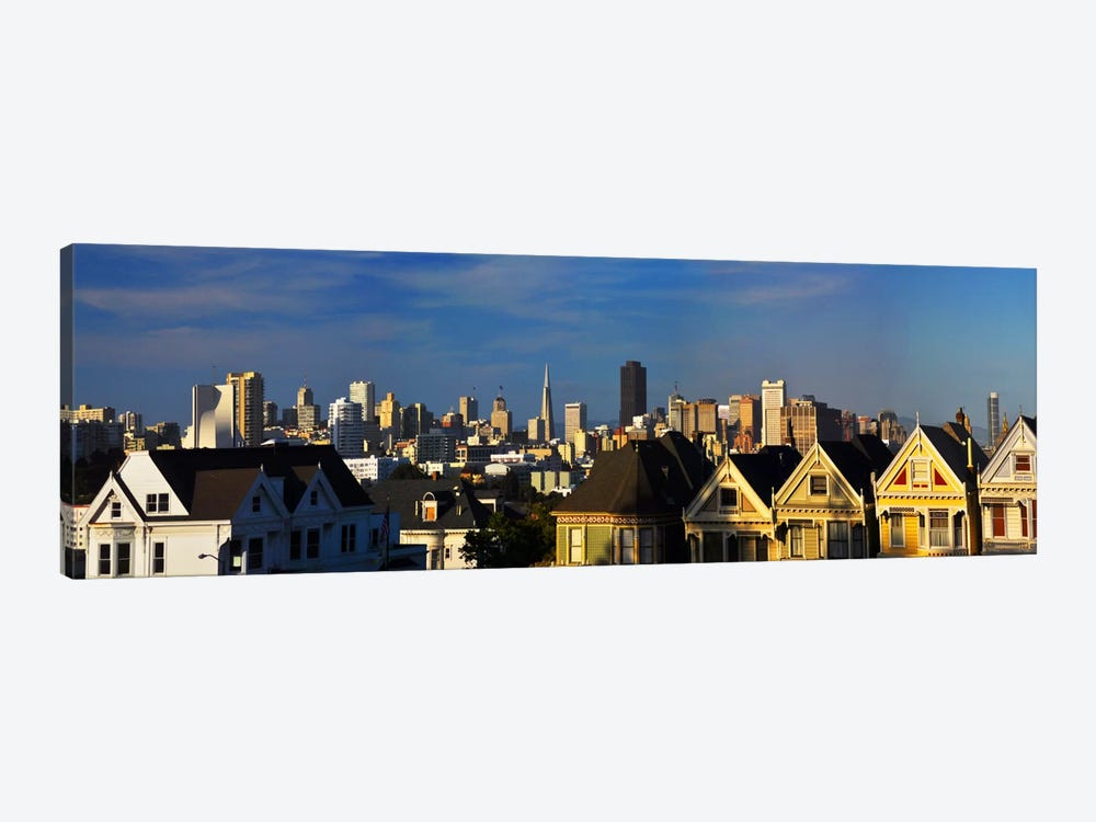 San Francisco Panoramic Skyline Cityscape by Unknown Artist 1-piece Canvas Wall Art