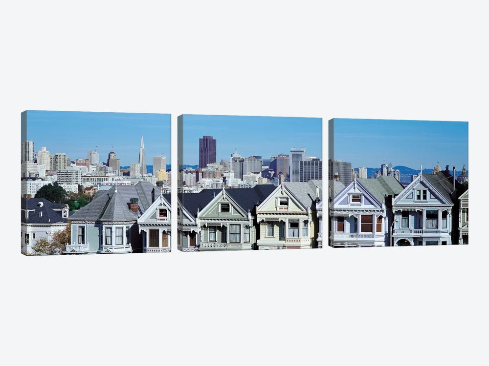 San Francisco Panoramic Skyline Cityscape by Unknown Artist 3-piece Art Print