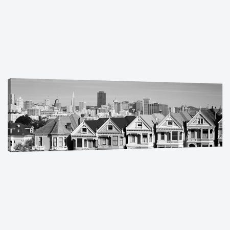 San Francisco Panoramic Skyline Cityscape (Black & White) Canvas Print #6134} by Unknown Artist Canvas Art