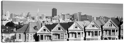 San Francisco Panoramic Skyline Cityscape (Black & White) Canvas Print #6134
