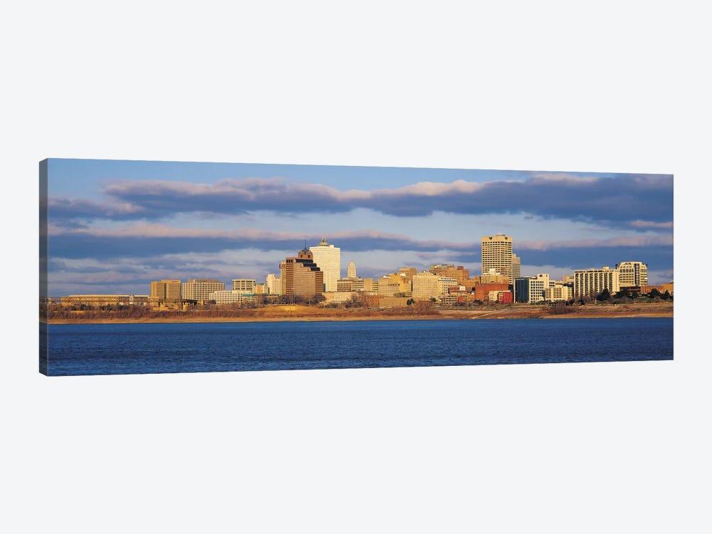Memphis Panoramic Skyline Cityscape by Unknown Artist 1-piece Art Print