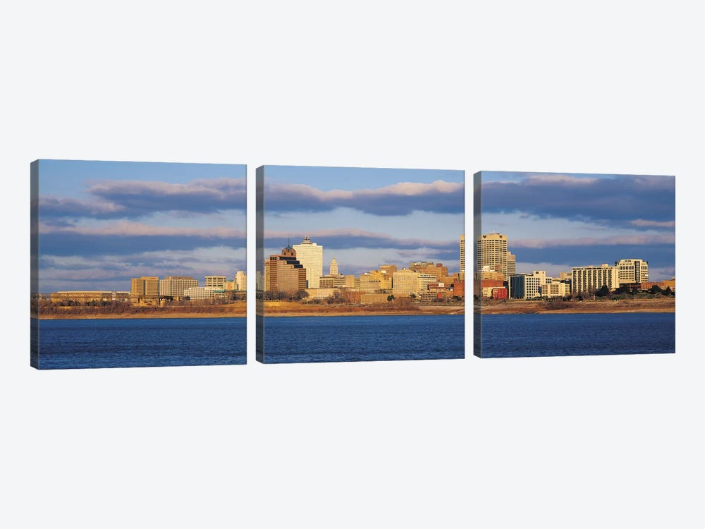 Memphis Panoramic Skyline Cityscape by Unknown Artist 3-piece Canvas Print