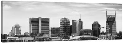 Memphis Panoramic Skyline Cityscape (Black & White) Canvas Art Print