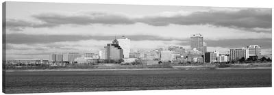 Memphis Panoramic Skyline Cityscape (Black & White) Canvas Print #6141