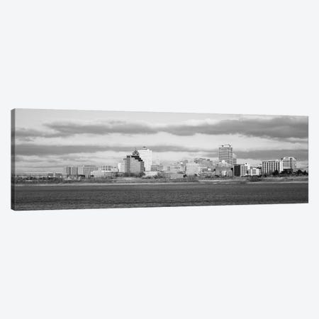 Memphis Panoramic Skyline Cityscape (Black & White) Canvas Print #6141} by Unknown Artist Canvas Artwork
