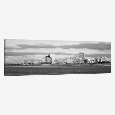 Memphis Panoramic Skyline Cityscape (Black & White) Canvas Print #6141} by Unknown Artist Canvas Artwork