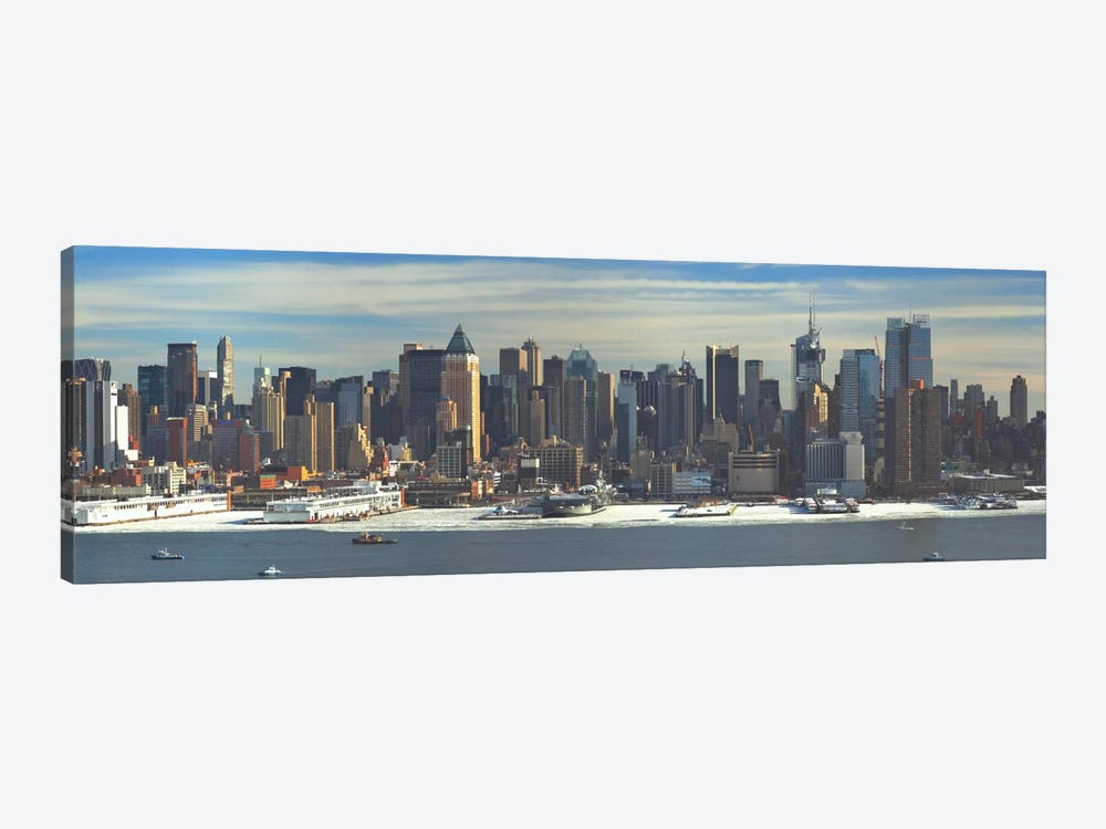 New York Panoramic Skyline Cityscape (Winter) by Unknown Artist 1-piece Canvas Art Print