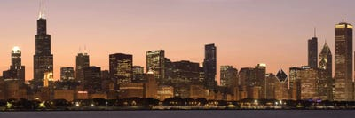 Chicago Panoramic Skyline Cityscape Dusk Ca Unknown
