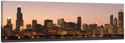 Chicago Panoramic Skyline Cityscape (Dusk) Canvas Art Print