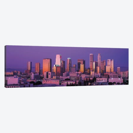 Los Angeles Panoramic Skyline Cityscape (Dusk) Canvas Print #6153} by Unknown Artist Art Print
