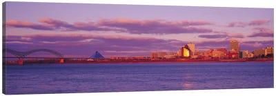Memphis Panoramic Skyline Cityscape (Dusk) Canvas Print #6156