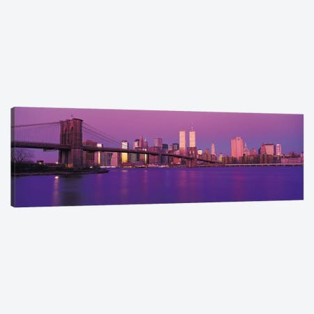 New York Panoramic Skyline Cityscape (Dusk) Canvas Print #6161} by Unknown Artist Canvas Art