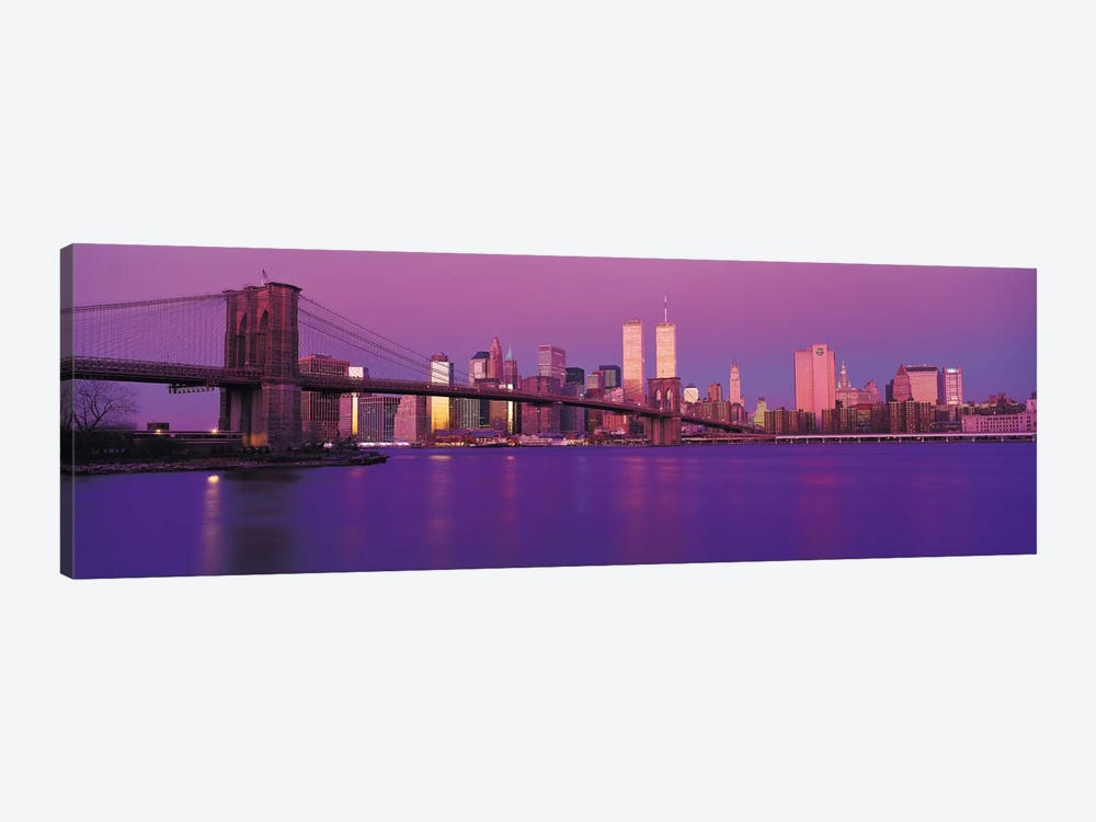 New York Panoramic Skyline Cityscape (Dusk) by Unknown Artist 1-piece Canvas Artwork