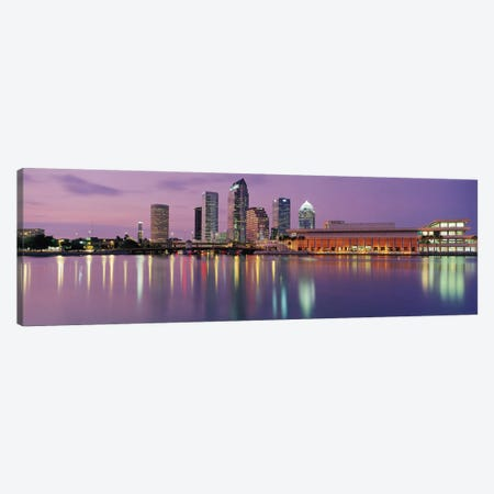 Tampa Panoramic Skyline Cityscape (Dusk) Canvas Print #6165} Art Print
