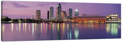 Tampa Panoramic Skyline Cityscape (Dusk) Canvas Art Print