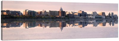 Madison Panoramic Skyline Cityscape (Evening) Canvas Art Print