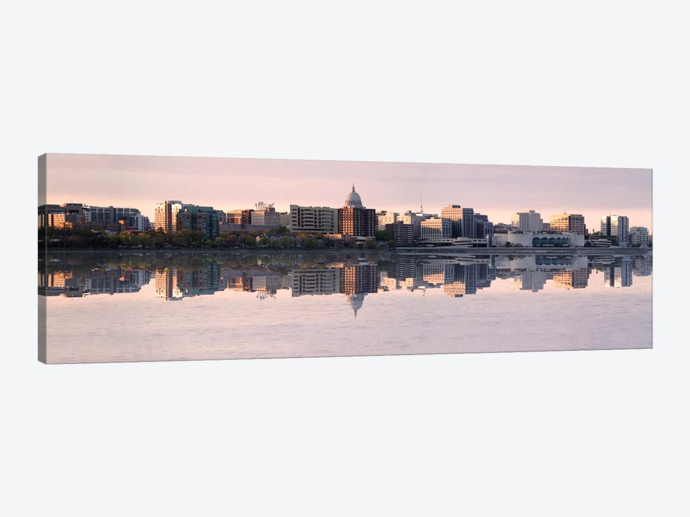 Madison Panoramic Skyline Cityscape (Evening) by Unknown Artist 1-piece Canvas Wall Art