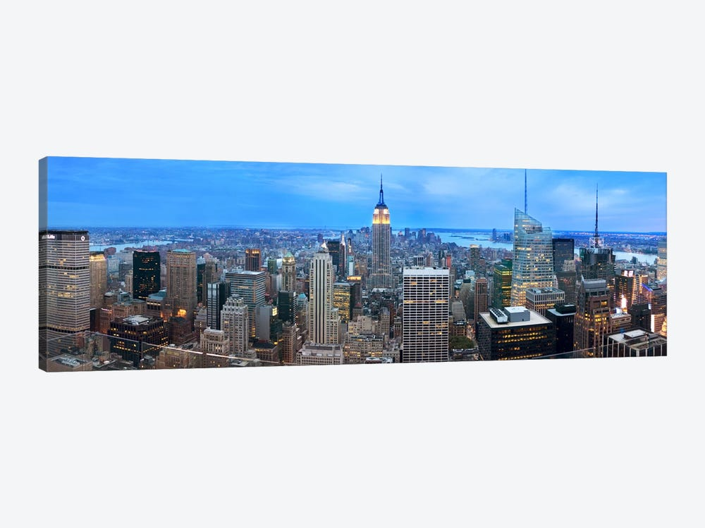 New York Panoramic Skyline Cityscape (Evening) by Unknown Artist 1-piece Art Print