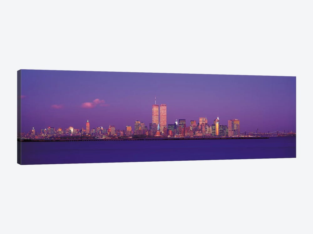 New York Panoramic Skyline Cityscape (Evening) by Unknown Artist 1-piece Canvas Wall Art