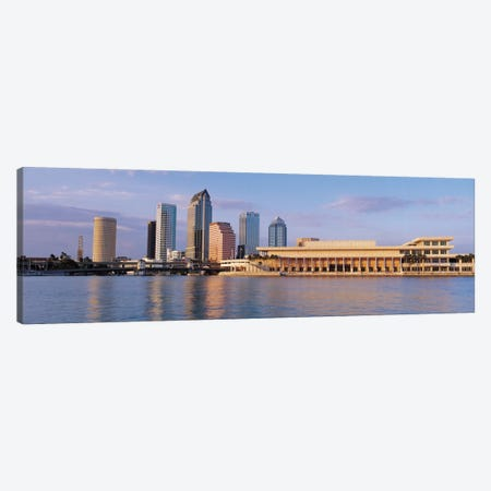 Tampa Panoramic Skyline Cityscape (Evening) Canvas Print #6190} Canvas Print