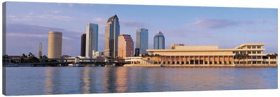 Tampa Panoramic Skyline Cityscape (Evening) Canvas Art Print