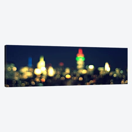 New York Panoramic Skyline Cityscape (Night) Canvas Print #6193} by Unknown Artist Art Print
