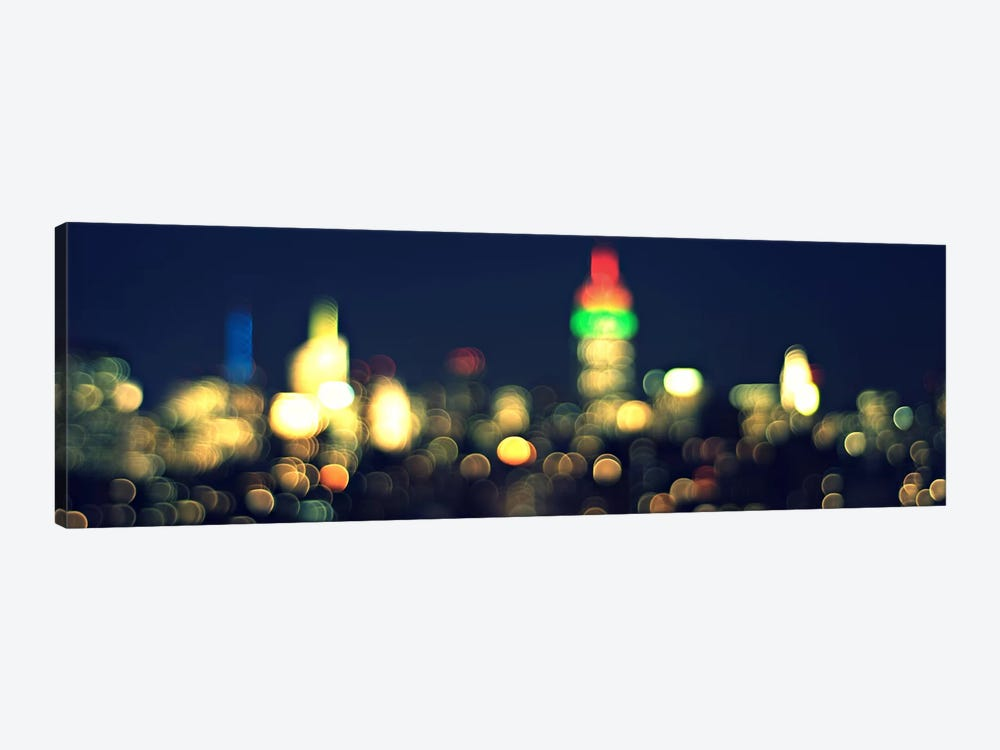 New York Panoramic Skyline Cityscape (Night) by Unknown Artist 1-piece Canvas Print