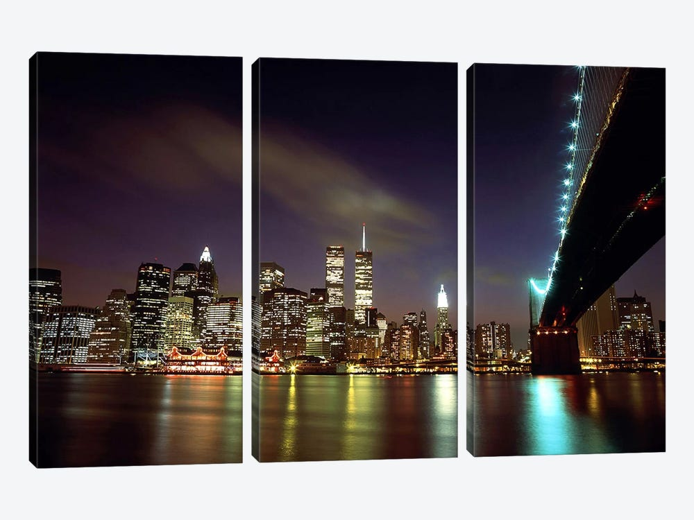 Downtown New York by Unknown Artist 3-piece Art Print