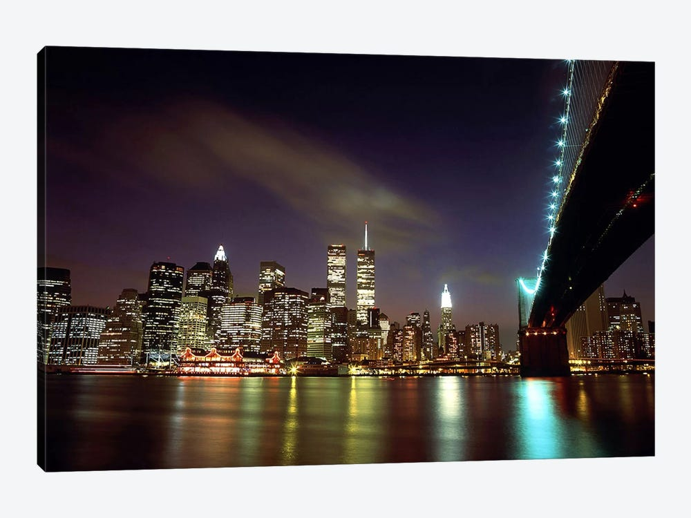 Downtown New York by Unknown Artist 1-piece Canvas Print