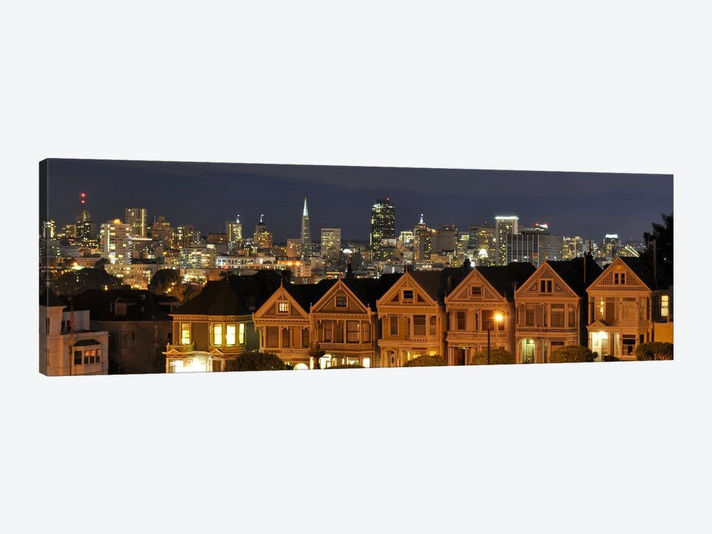 San Francisco Panoramic Skyline Cityscape (Night) 1-piece Canvas Artwork